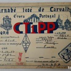 Radios antiguas: TARJETA RADIOAFICIONADO, CT-1-PP, FUORA - PORTUGAL, AÑOS 50. Lote 174078637