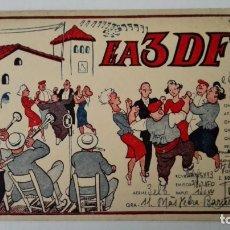 Radios antiguas: TARJETA RADIOAFICIONADO, EA-3-DF, BARCELONA AÑOS 50. Lote 174079478