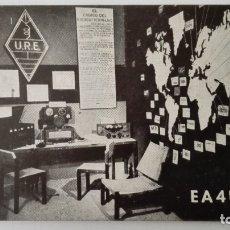Radio antiche: TARJETA RADIOAFICIONADO CON SU EQUIPO, EA-4-URE, AÑOS 50. Lote 174083232