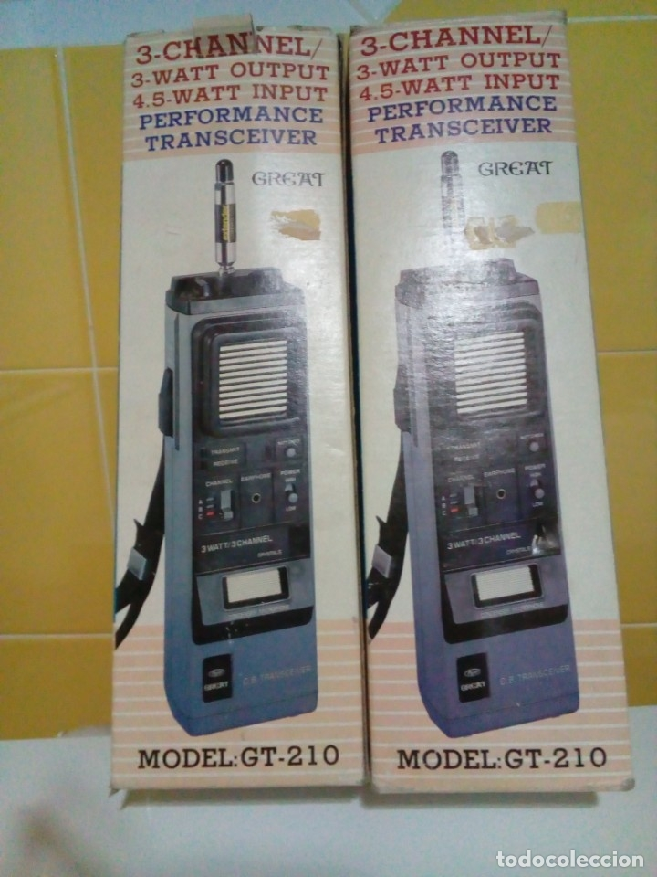 Radios antiguas: DOS EMISORAS GREAT GT-210 - Foto 2 - 174991830