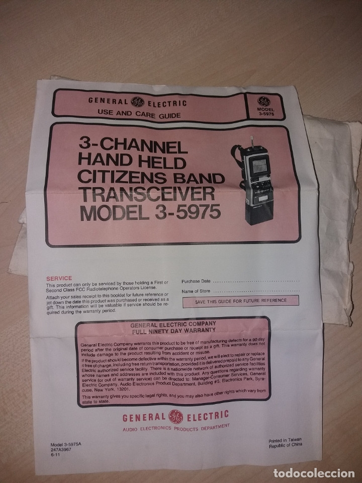 Radios antiguas: TRANSMISORES DE 27MHZ, 3 CANALES 5W - Foto 8 - 175877284