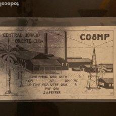 Radios antiguas: TARJETA RADIOAFICIONADO CO8MP CUBA. AÑO 1952.. Lote 176493533