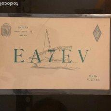 Radios antiguas: TARJETA RADIOAFICIONADO EA7EV MÁLAGA. AÑO 1955.. Lote 176493724