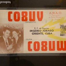 Radios antiguas: TARJETA RADIOAFICIONADO CO8UV CUBA. AÑO 1950.. Lote 176493940