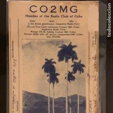 Radios antiguas: TARJETA RADIOAFICIONADO CO2MG CUBA. AÑO 1957.. Lote 176494174
