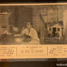 Radios antiguas: TARJETA RADIOAFICIONADO PY2CK BRASIL. AÑO 1952.. Lote 176494732