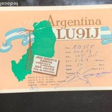 Radios antiguas: TARJETA RADIOAFICIONADO LU9IJ ARGENTINA. AÑO 1958.. Lote 176494912
