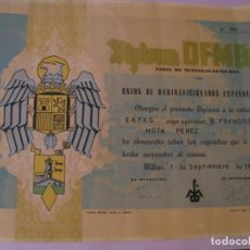 Radios antiguas: DIPLOMA RADIOAFICIONADOS, URE. DFMB. FERIA DE MUESTRAS DE BILBAO. 1961. 35X27 CM.. Lote 176996012