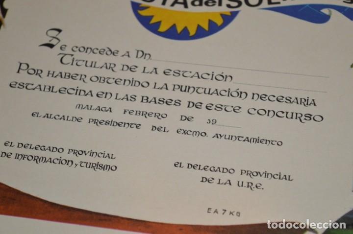 Radios antiguas: DIPLOMA original - URE Unión de Radio Aficionados Españoles / AÑOS 60 - Medidas 43,5 x 32 Cm ¡Mira! - Foto 3 - 177195865