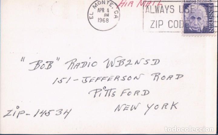Radios antiguas: TARJETA POSTAL QSL RADIOAFICIONADO. W6QIP- RIO HONSO CALIFORNIA, 1968. RADIO AFICIONADO - Foto 3 - 179200858