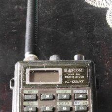 Radios antiguas: ESCANER MULTIBANDA ICOM IC-02AT. Lote 180280788
