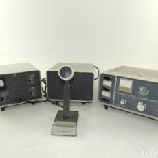 Radios antiguas: CONJUNTO DE APARATOS PARA RADIO AFICIONADOS AKW 1000 LINER AMPLIFER MICROFONO Y ETC.. Lote 181818733
