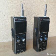 Radios antiguas: JUEGO DE DOS WALKIE TALKIE TRANSCEIVER POWER ELECTRONICS NO PROBADOS. Lote 182911057