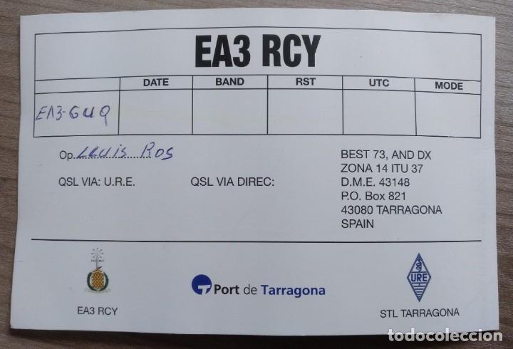 Radios antiguas: tarjeta postal qsl radioaficionados, tarragona, reloj del puerto - Foto 3 - 183948127