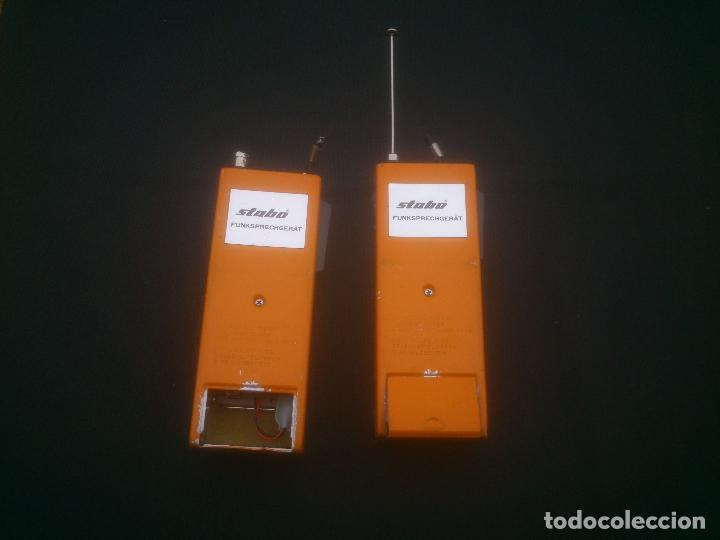 Radios antiguas: ANTIGUOS WALKIE TALKIE STABO MULTIFON SUPER 7 GERMANY - Foto 2 - 184387383