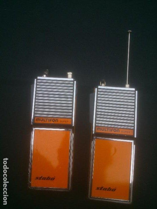 ANTIGUOS WALKIE TALKIE STABO MULTIFON SUPER 7 GERMANY (Radios, Gramófonos, Grabadoras y Otros - Radioaficionados)