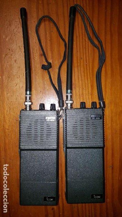 Radios antiguas: EXCELENTE Y RARA PAREJA DE WALKIE TALKIE ICOM IC-2N EN SUS FUNDAS. FUNCIONAN. LEER DESCRIPCIÓN. - Foto 14 - 188509236