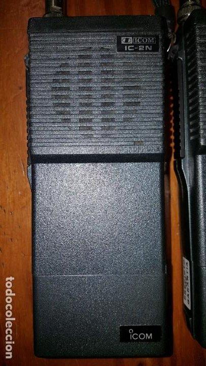 Radios antiguas: EXCELENTE Y RARA PAREJA DE WALKIE TALKIE ICOM IC-2N EN SUS FUNDAS. FUNCIONAN. LEER DESCRIPCIÓN. - Foto 15 - 188509236