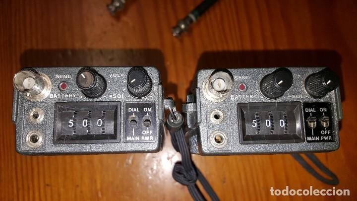 Radios antiguas: EXCELENTE Y RARA PAREJA DE WALKIE TALKIE ICOM IC-2N EN SUS FUNDAS. FUNCIONAN. LEER DESCRIPCIÓN. - Foto 18 - 188509236