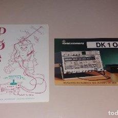 Radios antiguas: QSL TARJETA DE RADIOAFICIONADOS. ROHDE SCHWARZ, ALEMANIA, 2 DIFERENTES, AÑOS 90. Lote 191419780