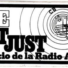 Radios antiguas: PEGATINA TELE SANT JUST - AL SERVICIO DE LA RADIO AFICIÓN. Lote 191459958