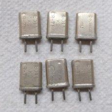 Radios Anciennes: ELECTRONICA, LOTE CRISTALES EMISION, RADIOAFICIONADOS, NO SE SI FUNCIONAN BIEN. Lote 192276951