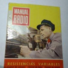 Radios antiguas: REVISTA ANTIGUA MANUAL RADIO. Lote 193249302