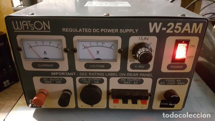 WATSON FUENTE DE ALIMENTACIÓN DC REGULADA Y VARIABLE 0-15V 25A REGULATED DC POWER SUPPLY 0-15V DC25A (Radios, Gramófonos, Grabadoras y Otros - Radioaficionados)