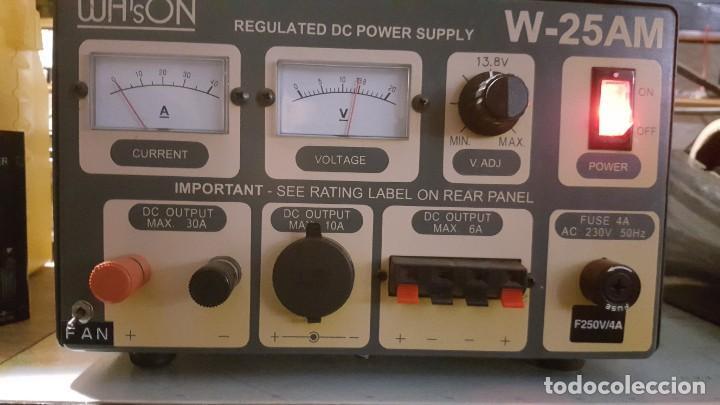 Radios antiguas: Watson Fuente de alimentación DC regulada y variable 0-15V 25A Regulated DC Power Supply 0-15V DC25A - Foto 5 - 196112488