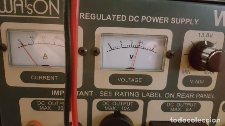 Radios antiguas: Watson Fuente de alimentación DC regulada y variable 0-15V 25A Regulated DC Power Supply 0-15V DC25A - Foto 11 - 196112488