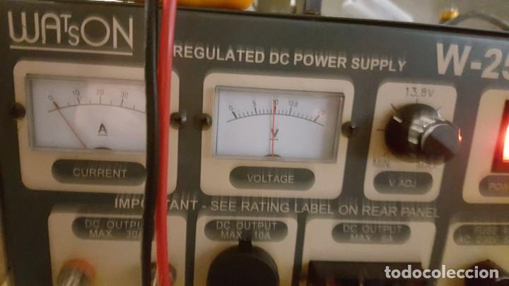 Radios antiguas: Watson Fuente de alimentación DC regulada y variable 0-15V 25A Regulated DC Power Supply 0-15V DC25A - Foto 12 - 196112488