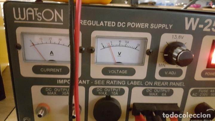 Radios antiguas: Watson Fuente de alimentación DC regulada y variable 0-15V 25A Regulated DC Power Supply 0-15V DC25A - Foto 13 - 196112488