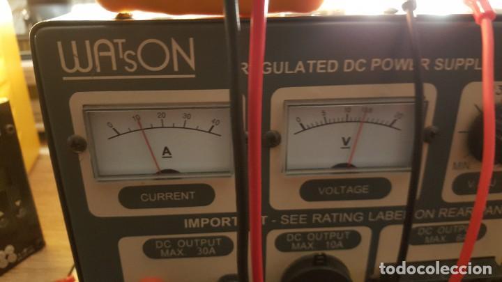 Radios antiguas: Watson Fuente de alimentación DC regulada y variable 0-15V 25A Regulated DC Power Supply 0-15V DC25A - Foto 15 - 196112488