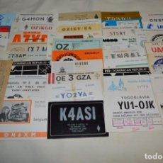 Radios antiguas: LOTE 50 TARJETAS / POSTALES RADIOAFICIONADO -- TARJETAS QSL -- FINALES 70 / PRINCIPIOS 80 - ¡MIRA!. Lote 198061276