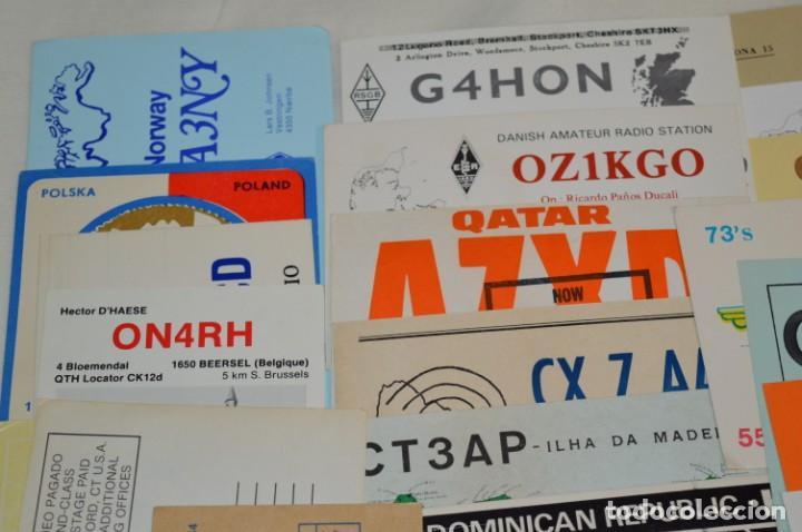 Radios antiguas: Lote 50 Tarjetas / Postales RADIOAFICIONADO -- Tarjetas QSL -- Finales 70 / Principios 80 - ¡Mira! - Foto 2 - 198061276