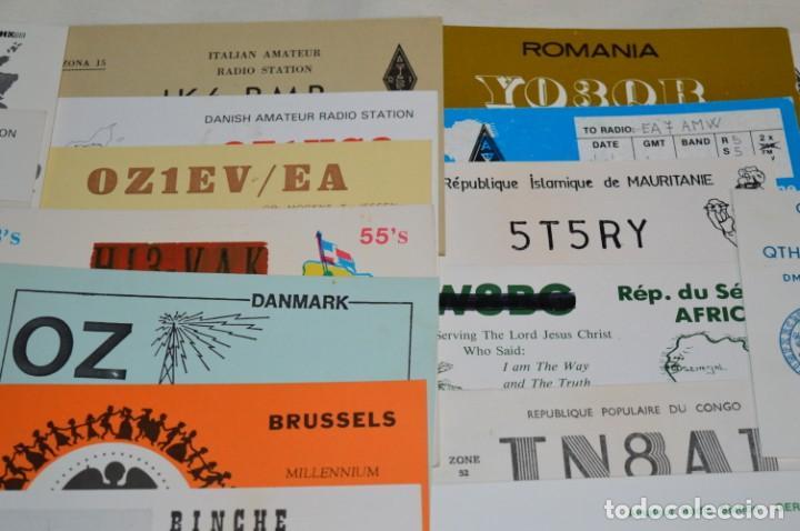 Radios antiguas: Lote 50 Tarjetas / Postales RADIOAFICIONADO -- Tarjetas QSL -- Finales 70 / Principios 80 - ¡Mira! - Foto 3 - 198061276