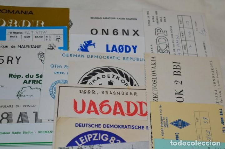 Radios antiguas: Lote 50 Tarjetas / Postales RADIOAFICIONADO -- Tarjetas QSL -- Finales 70 / Principios 80 - ¡Mira! - Foto 4 - 198061276