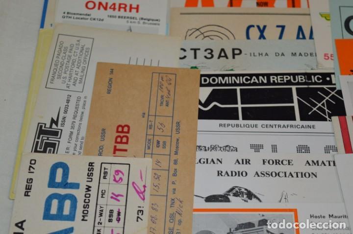 Radios antiguas: Lote 50 Tarjetas / Postales RADIOAFICIONADO -- Tarjetas QSL -- Finales 70 / Principios 80 - ¡Mira! - Foto 5 - 198061276