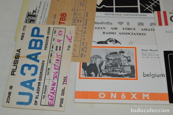 Radios antiguas: Lote 50 Tarjetas / Postales RADIOAFICIONADO -- Tarjetas QSL -- Finales 70 / Principios 80 - ¡Mira! - Foto 8 - 198061276