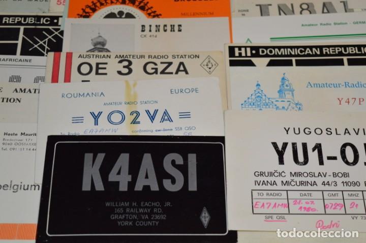Radios antiguas: Lote 50 Tarjetas / Postales RADIOAFICIONADO -- Tarjetas QSL -- Finales 70 / Principios 80 - ¡Mira! - Foto 9 - 198061276
