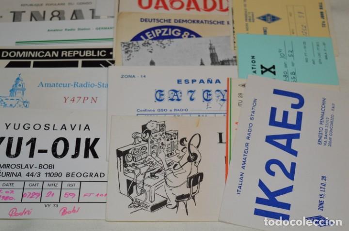 Radios antiguas: Lote 50 Tarjetas / Postales RADIOAFICIONADO -- Tarjetas QSL -- Finales 70 / Principios 80 - ¡Mira! - Foto 10 - 198061276
