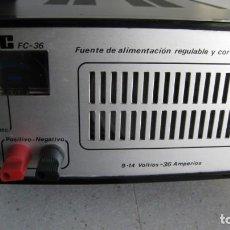Radios antiguas: ESTUPENDA FUENTE DE ALIMENTACIÓN INAC 36 9-14 VOLTIOS 36 AMPERIOS 23 X 19 X 9 CMTS. Lote 199207988