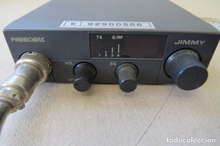 Radios antiguas: RADIO PORTATIL MARCA PRESIDENT JIMMY 37 HZ - Foto 2 - 199424515