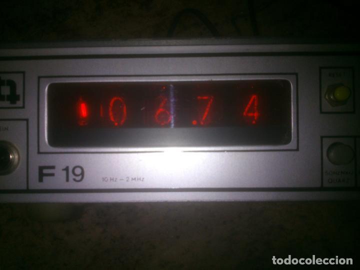 Radios antiguas: -TRANSMISIONES-MEDIDOR(GENERADOR) DE FRECUENCIAS DE RADIO.MODELO:F 19- - Foto 9 - 33960033