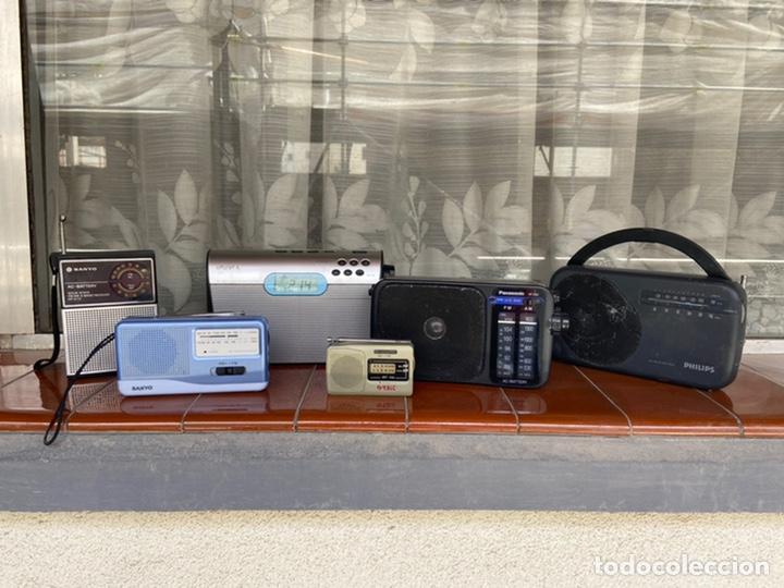 LOTE 6 RADIOS (SONY, SANYO, PANASONIC, PHILIPS) (Radios, Gramófonos, Grabadoras y Otros - Radioaficionados)