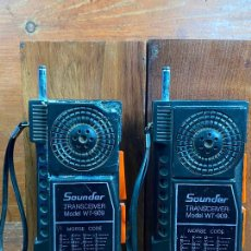Radios antiguas: WALKIE TALKIES SOUNDER TRANSCEIVER MODEL WT-909 MORSE CODE. Lote 204185556