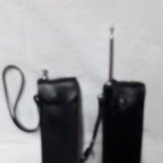 Radios antiguas: ANTIGUOS WALKIE TALKIE - ACADEMY CT-998 CON FUNDAS DE PIEL ORIGINAL. Lote 208563938