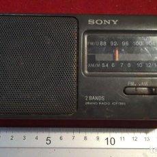 Radios antiguas: RADIO TRANSISTOR SONY ICF-390 FUNCIONA. Lote 210552508