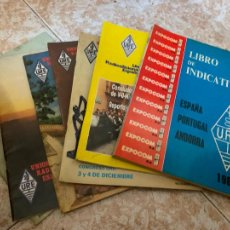 Radios antiguas: LOTE DE 6 REVISTAS RADIOAFICIONADO URE + LIBRO NOMENCLATOR GRUESO DE 1982. Lote 210585585