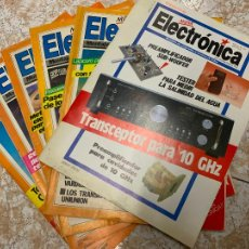 Radios antiguas: LOTE DE 6 REVISTAS RADIOAFICIONADO NUEVA ELECTRONICA. Lote 210588783